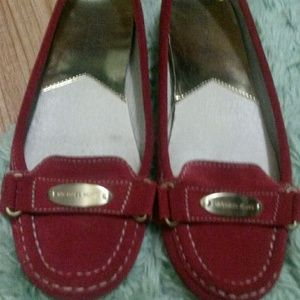 Michael Kors Red Suede Driving Moccasin